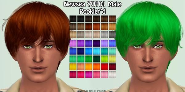 Annachibi`s Sims: NewSea`s YU101 hairstyle retextured for Sims 4