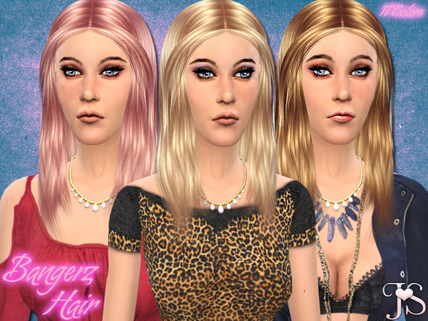 The Sims Resource: Bangerz Hairstyle by JavaSims for Sims 4