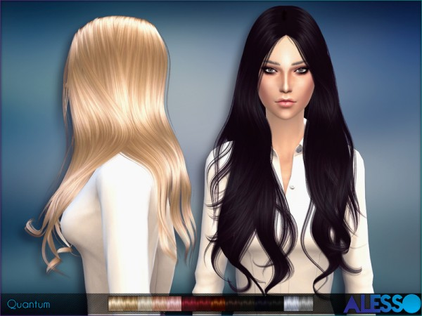 The Sims Resource: Quantum hairstyle by Alesso for Sims 4