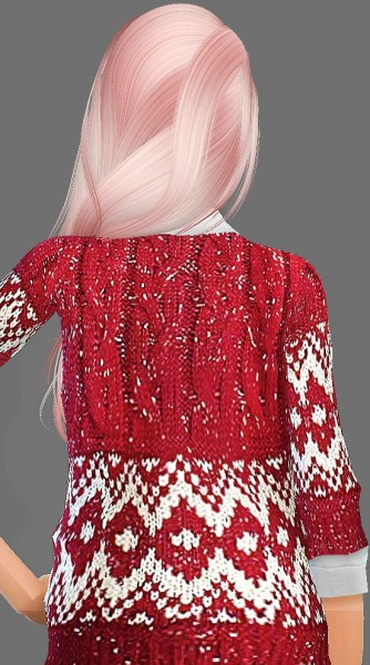 Artemis Sims: Alesso`s Anchor hairstyle retextured for Sims 4
