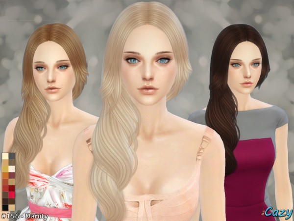 The Sims Resource: Danity Hairstyle by Cazy for Sims 4