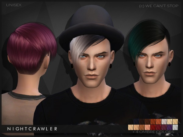The Sims Resource: We Cant Stop hairstyle by Nightcrawler for Sims 4