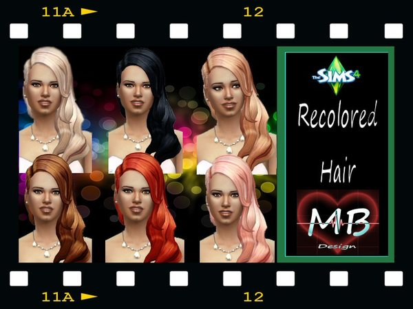 The Sims Resource: Elegant Hairstyle Recolored by MorganeB for Sims 4