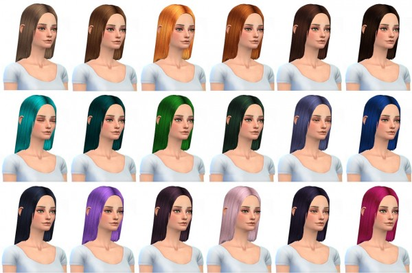 Miss Paraply: Hairstyle retexture 36 colors for Sims 4