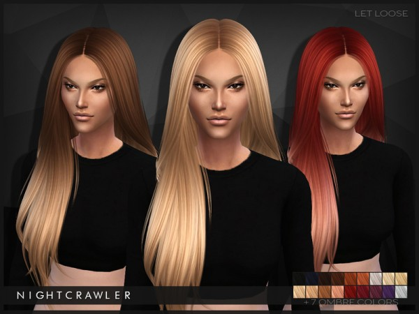 The Sims Resource: Let Loose hairstyle by Nightcrawler for Sims 4