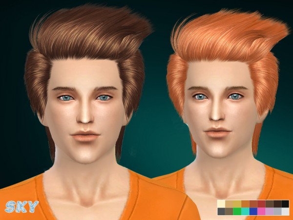 The Sims Resource: Spiny hairstyle 256 by Skysims for Sims 4
