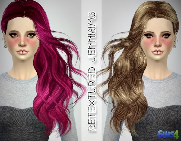 Jenni Sims: Newsea`s Hello Hairstyle and SkySims hairstyle 252 retextured for Sims 4