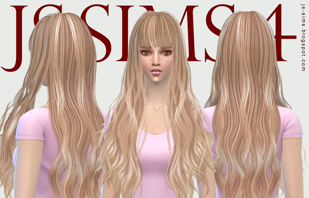 The sims 4 hairstyles cc - Js Sims 4 Butterflysims 049 Hairstyle Retextured