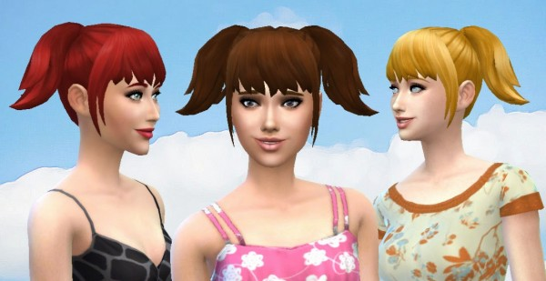 Mystufforigin: High Pigtails for Sims 4