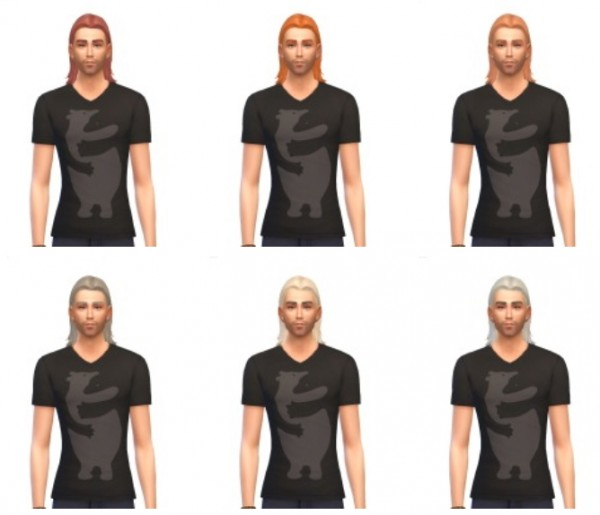 Busted Pixels: Med Center part hairstyle for Sims 4