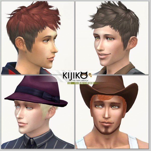 Kijiko Sims: Faux hawk hairstyle conversion from TS3 to TS4 for Sims 4