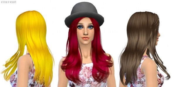 Nessa sims: Cazy`s 105 hairstyle retextured for Sims 4