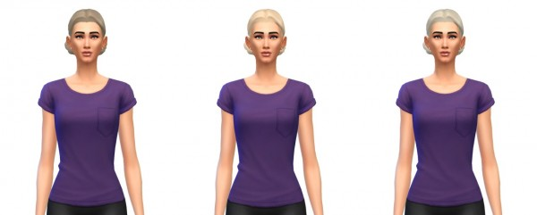 Busted Pixels: Buns low hairstyle for Sims 4
