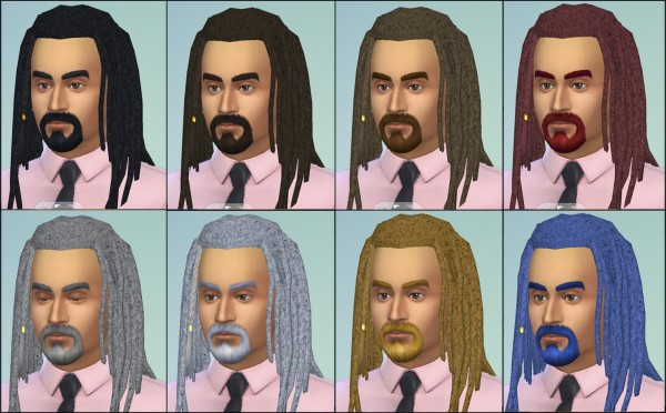 Mod The Sims: Jack Dreads Unisex by necrodog for Sims 4