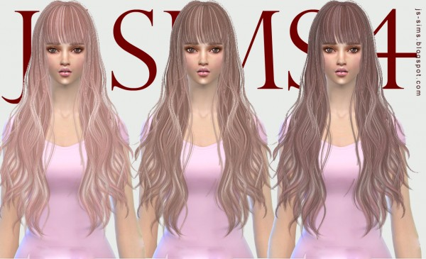 JS Sims 4: Butterflysims 049 hairstyle retextured for Sims 4