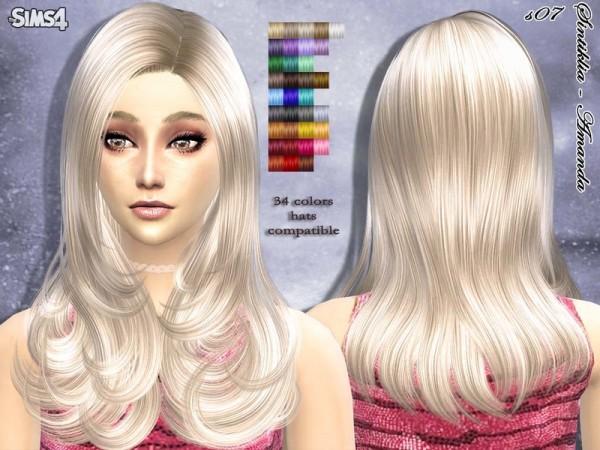 Sintiklia Sims: Amanda hairstyle 07 by Sintiklia for Sims 4