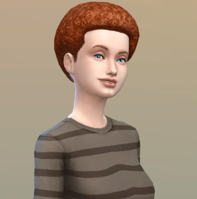 Vicarious Living: Afro medium hairstyle retextured for Sims 4