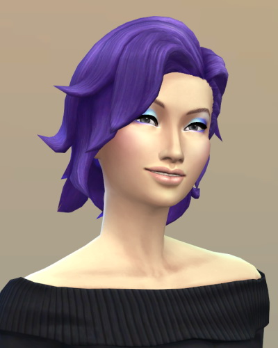 Vicarious Living: Bombshell hairstyle retextured for Sims 4
