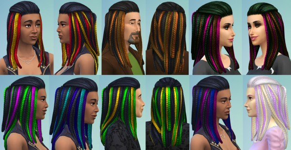 Mod The Sims Vibrant Braids For Men Women Including