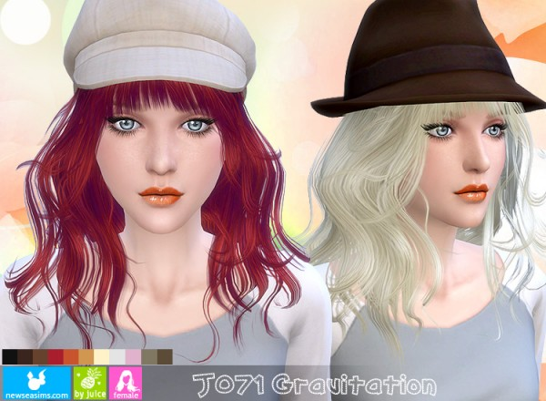 NewSea: J071 Gravitation hairstyle for Sims 4