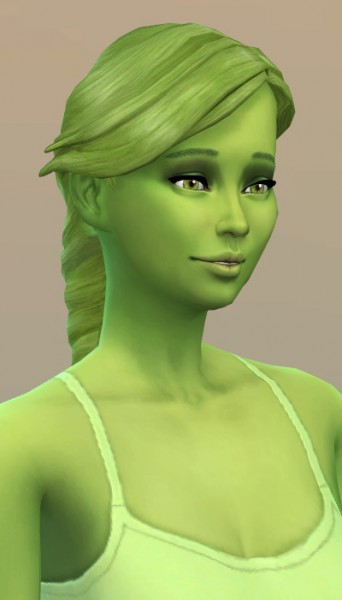 Vicarious Living: Braid Fishtail hairstyle retextured for Sims 4