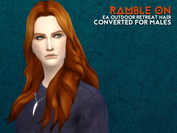 The path of never more: Ramble on hairstyle for Sims 4
