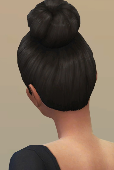 Vicarious Living: Bun Large High hairstyle retextured for Sims 4