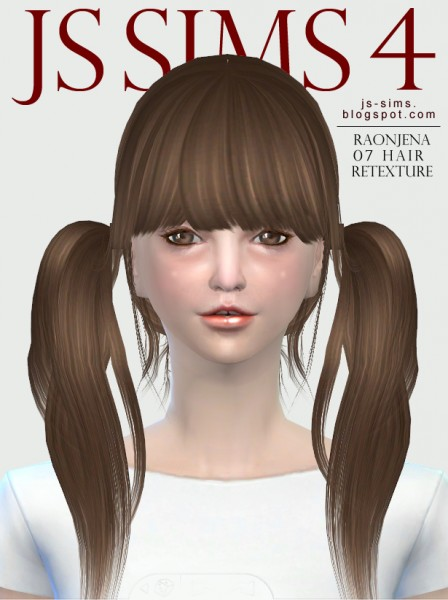 JS Sims 4: Raonjena 07 Hairstyle Retextured for Sims 4