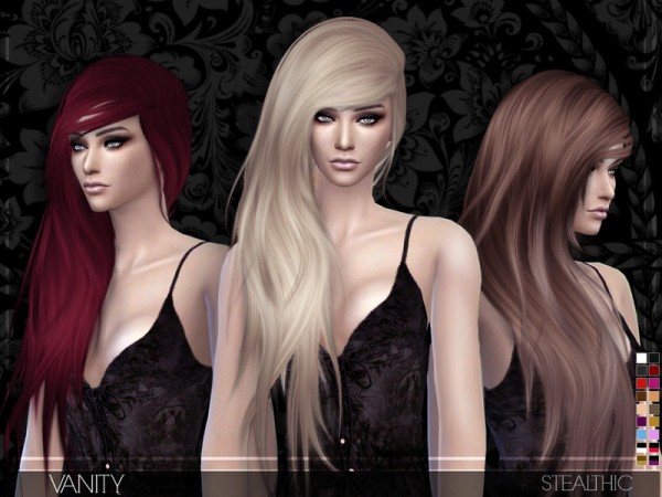 Stealthic: Vanity hairstyle for Sims 4