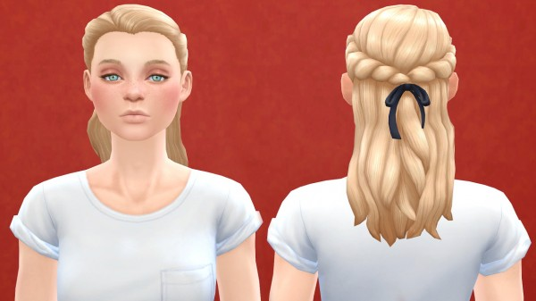 Pickypikachu: Hairstyle converted for females for Sims 4