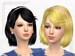 Sakura Phan: ELA 46 and Newsea J086 Stranger hairstyles retextured for Sims 4