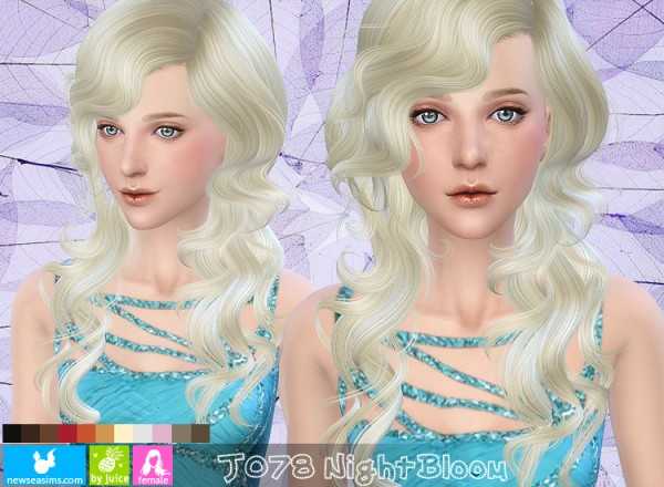 NewSea: J078 Night Bloom hairstyle for Sims 4