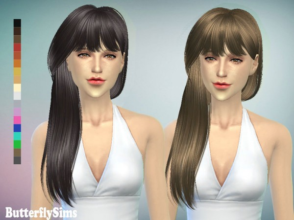Butterflysims: Gorgeous hairstyle 132 for Sims 4
