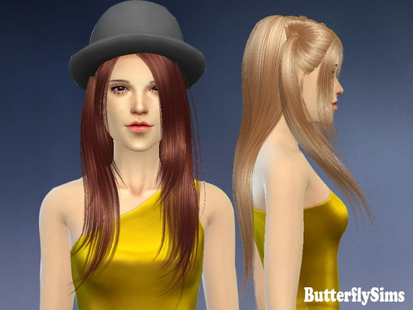 Butterflysims: Hairstyle 033 for Sims 4