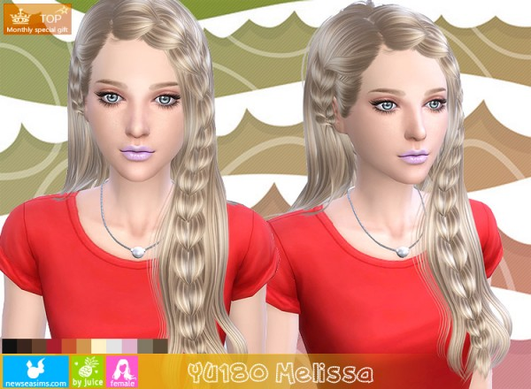 NewSea: YU180 Melissa hairstyle for Sims 4
