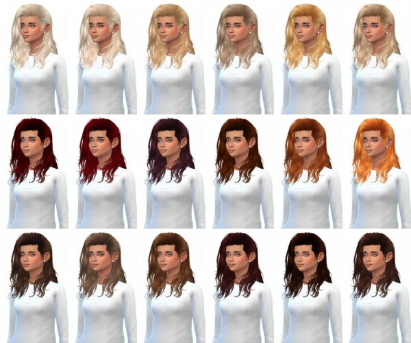 Miss Paraply: Rowansims Heartbreaker hairstyle in 36 colors for Sims 4