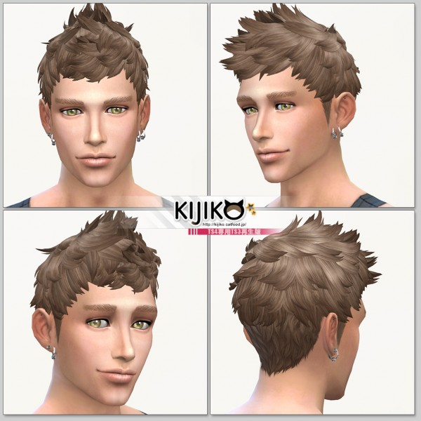 Kijiko Sims: Faux hawk hairstyle TS4 edition for Sims 4