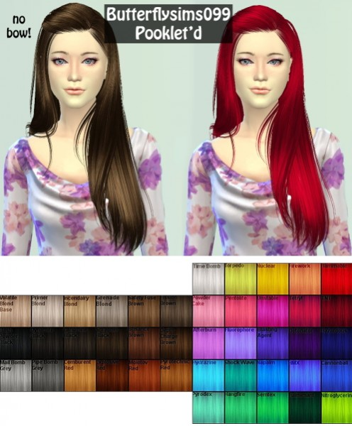 Annachibi`s Sims: Butterflysims 099 Hairstyles retextured for Sims 4
