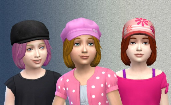 Mod The Sims: Sweet Hair for girls by Kiara24 for Sims 4