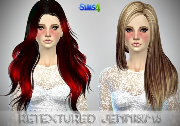 Jenni Sims: Butterflysims Hairs retextured (including mesh) for Sims 4