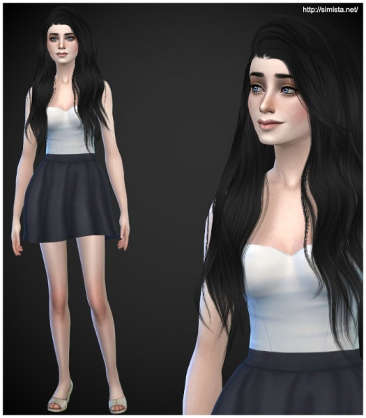 Simista: Stealthic Heaventide hairstyle retextured for Sims 4