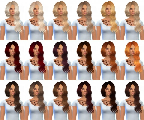 Miss Paraply: Sintiklia`s Marmelade hairstyle retextured in 36 colors for Sims 4
