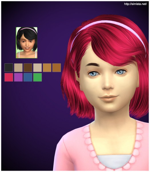 Simista: Ela 4G hairstyle retextured for Sims 4