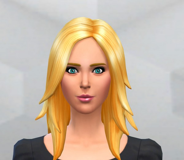 Mod The Sims: 5 New Colours for Long Rocker Hairstyle by Dellan for Sims 4