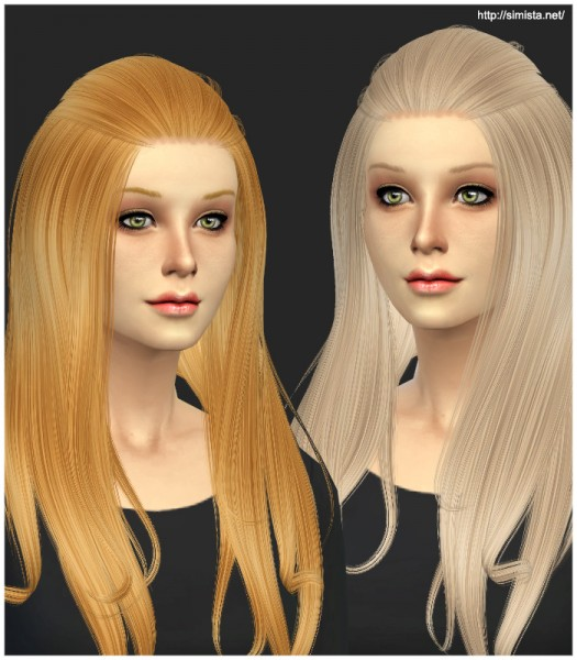 Simista: Alesso's Aurora hairstyle retextured for Sims 4