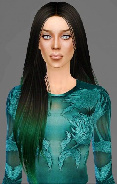 Artemis Sims: Nightcrawler Let Loose hairstyle retextured for Sims 4