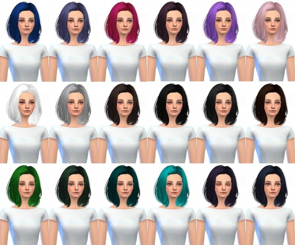 Miss Paraply: Skysims 242 retextured hairstyle for Sims 4