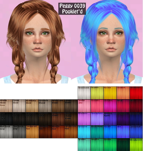 Annachibi`s Sims: Peggy`s 0039 hairstyle retextured for Sims 4