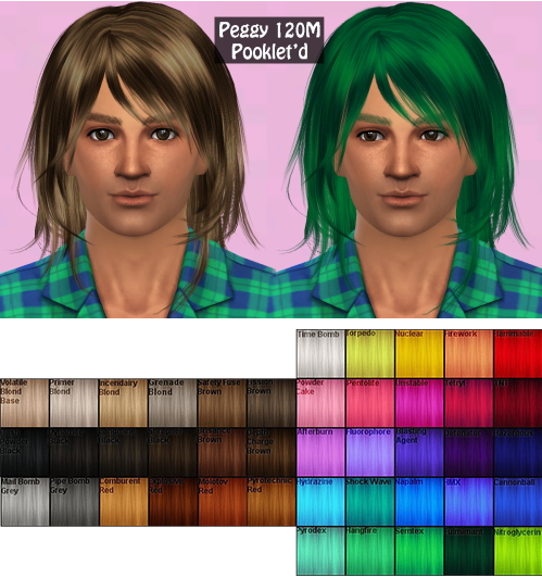 Annachibi`s Sims: Peggy`s 120 hairstyle male converted for Sims 4