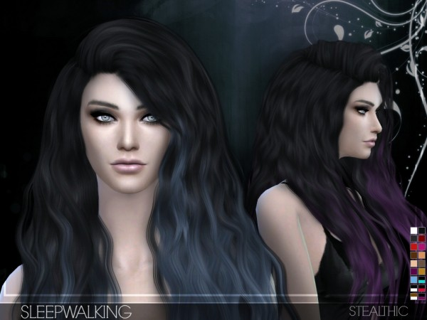 Stealthic: Sleepwalking hairstyle for Sims 4